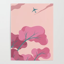 Aeroplane in the Evening Sky Poster