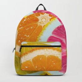 Orange, Pink & Yellow Fruit Slices Backpack