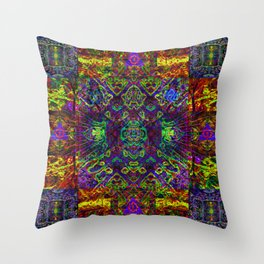 The symmetry of being Throw Pillow