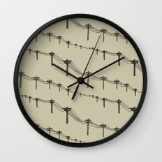 Metal Trees Wall Clock