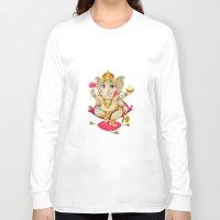ganesh Long Sleeve T-shirts featuring Ganesh by Danilo Sanino