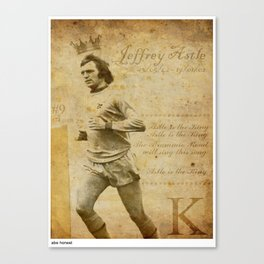 The King - Jeff Astle Canvas Print