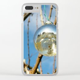 Silver Ball Clear iPhone Case