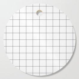 White Grid  /// www.pencilmeinstationery.com Cutting Board