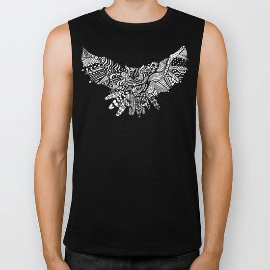 Dragon Owl (BW) Biker Tank