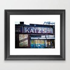 Katz's Framed Art Print