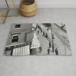 1906 Westminster Street Cityscape Scene, Providence, Rhode Island Rug