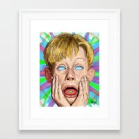 home alone Framed Art Prints featuring Home Alone by Maxine du Maine