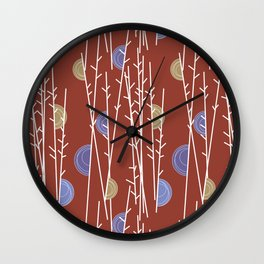Grasses and reeds Wall Clock