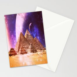 Galaxy Pyramids Stationery Cards