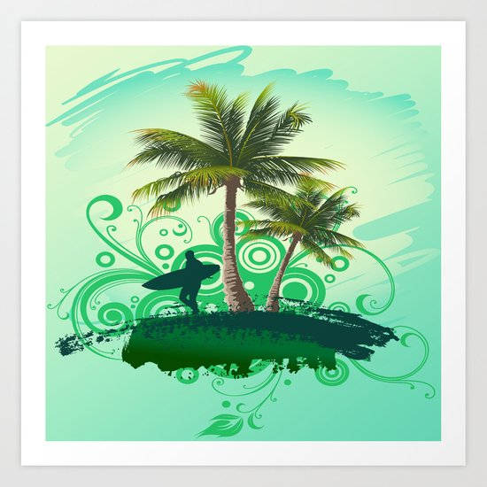 Tropical One Art Print