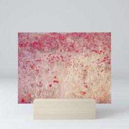 Fields of poppies Mini Art Print
