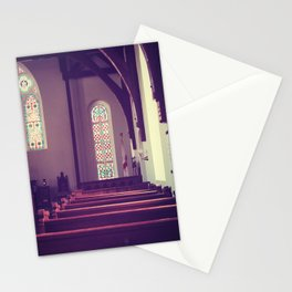 Old Church Stained Glass Stationery Cards