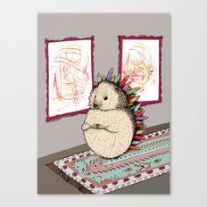 Hedgehog Artist Canvas Print