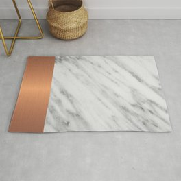 Carrara Italian Marble Holiday Rose Gold Edition Rug