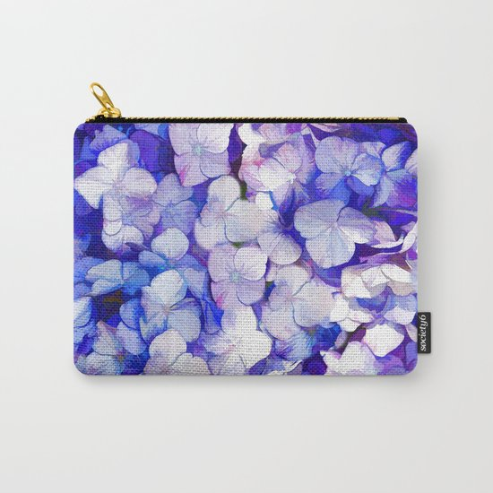 Watercolor Hydrangea Carry-All Pouch