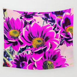 PURPLE DAISIES Wall Tapestry