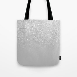 Trendy modern silver ombre grey color block Tote Bag