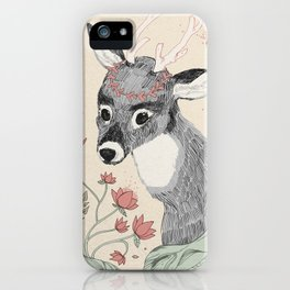 The deer from the forest iPhone Case