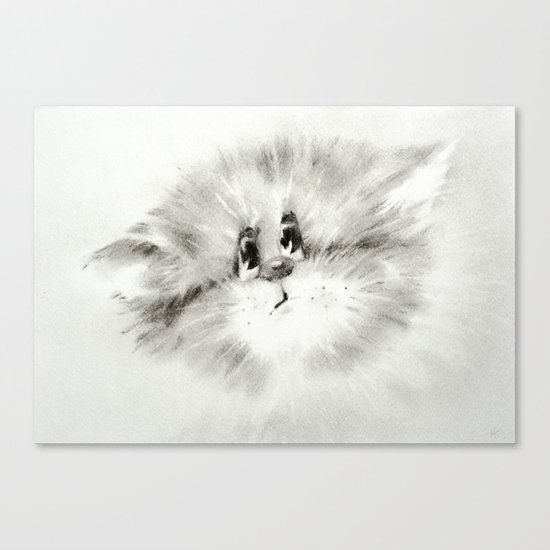 Surprised kitty Canvas Print
