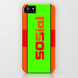 SOS social iPhone Case