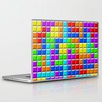 tetris Laptop & iPad Skins featuring Tetris by Rebekhaart