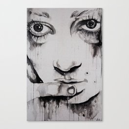 Dripping Face Canvas Print