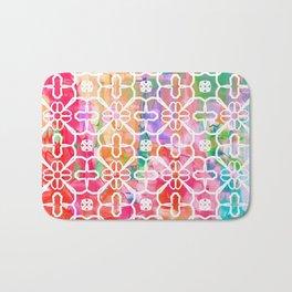 Watercolor Paint Flower Bath Mat