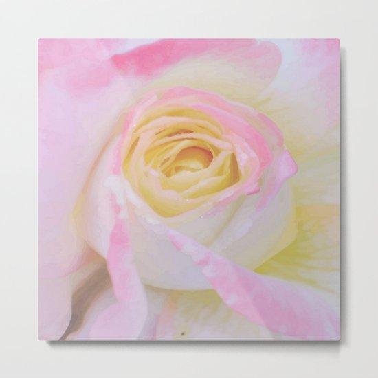 Pink Rose Vector Metal Print