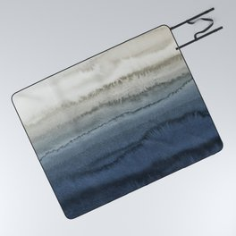 WITHIN THE TIDES - CRUSHING WAVES BLUE Picnic Blanket