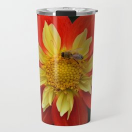 dahlia with bee Travel Mug
