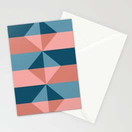 Cast Light in Coral and Blue Stationery Cards