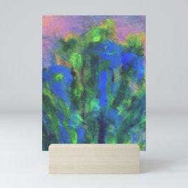 blue flowers in a Shanghai Mini Art Print