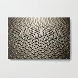Metal Diamond Plate flooring Metal Print
