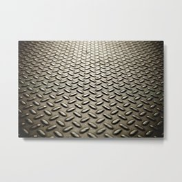 Metal Diamond Plate flooring Metal Print