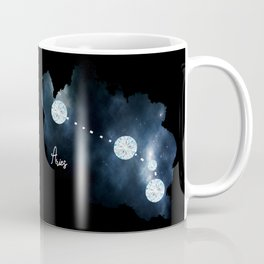Aries Constellation in Diamonds - Star Signs and Birth Stones Coffee Mug