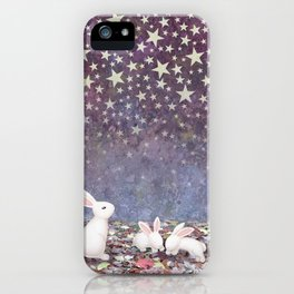 bunnies under the stars iPhone Case