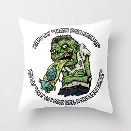 Zombie Hands Throw Pillow