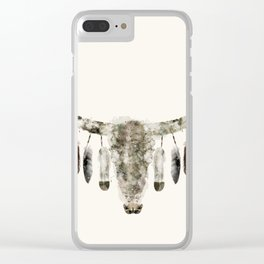 Cow Skull Clear iPhone Case