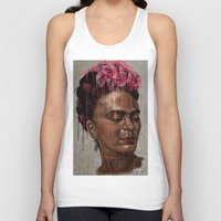 frida Tank Tops featuring Frida by Absolem Studio