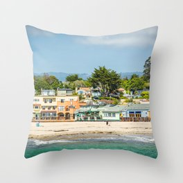 The Beach in Capitola 02 Throw Pillow