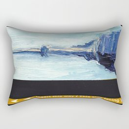 Subway Card Empire State Building No. 1 Rectangular Pillow