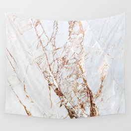 Gold Grey and White Sparkle Marble Wall Tapestry