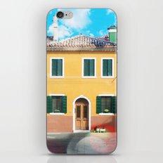 Little Yellow House in Burano iPhone & iPod Skin