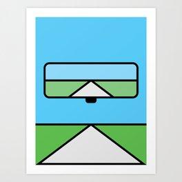Rearview Art Print