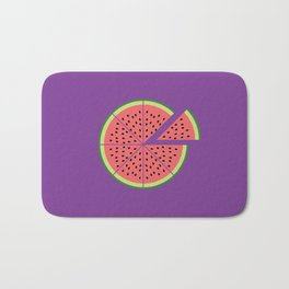 Watermelon Pizza Bath Mat