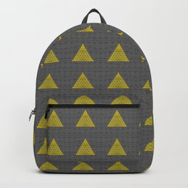 Minimalist Fractal Triangle Print Backpack