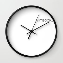 Antisocial Wall Clock