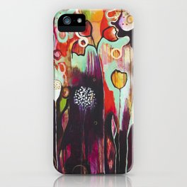 """Release Become"" Original Painting by Flora Bowley iPhone Case"