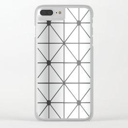 Silver Diamond Clear iPhone Case